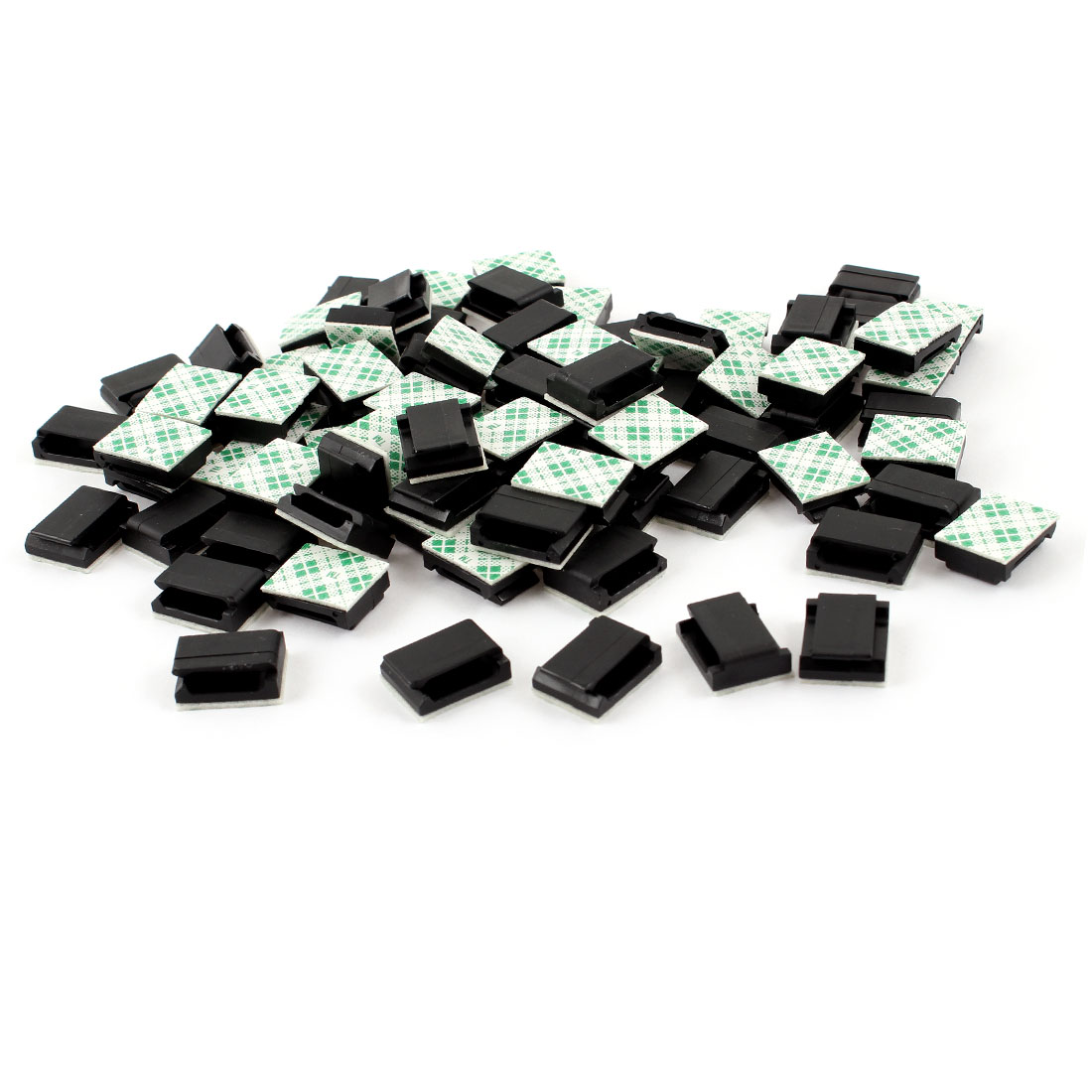 16mm x 13mm x 6mm 11mm Cable Width Self Adhesive Cable Tie Fixed Bases 100 Pcs