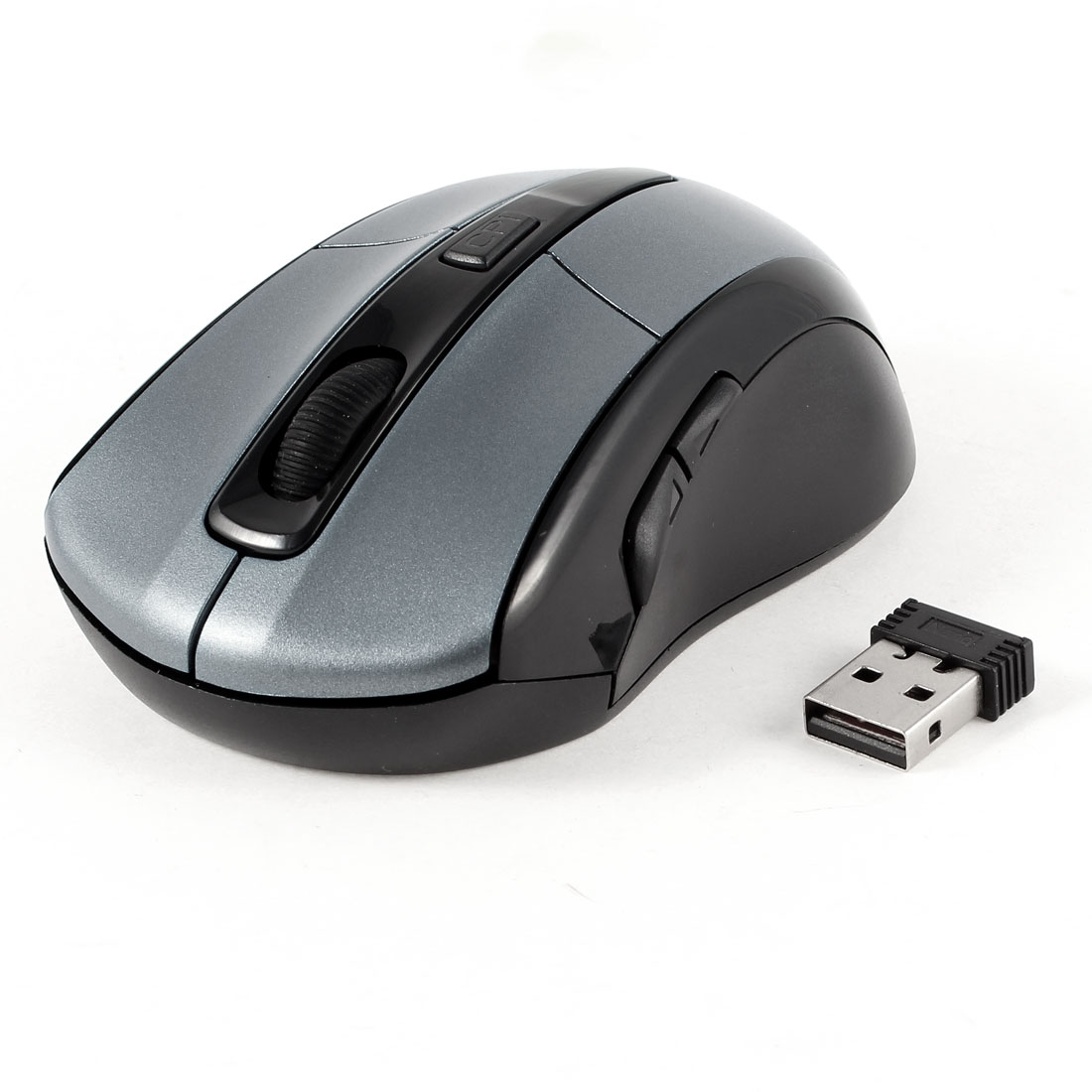2.4GHz Wireless Optical Mouse Mice Black Gray + USB Receiver for PC Computer