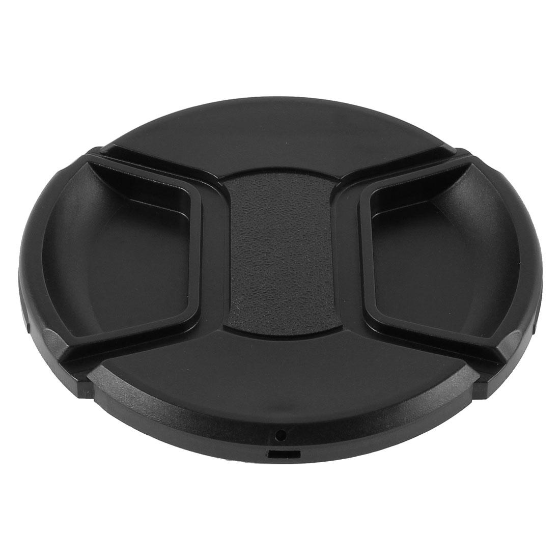 Univeral 86mm Dia Center Pinch Front Lens Cap for DSLR Camera