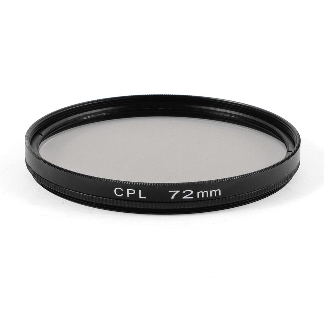 72mm Circular Polarizing CPL Lens Filter Protector Black for Digital Camera