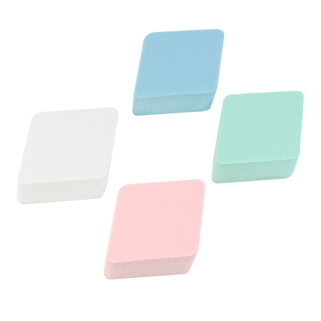 4 Pcs Soft Face Washing Cleansing Sponges Pads Puff Assorted Color for Lady