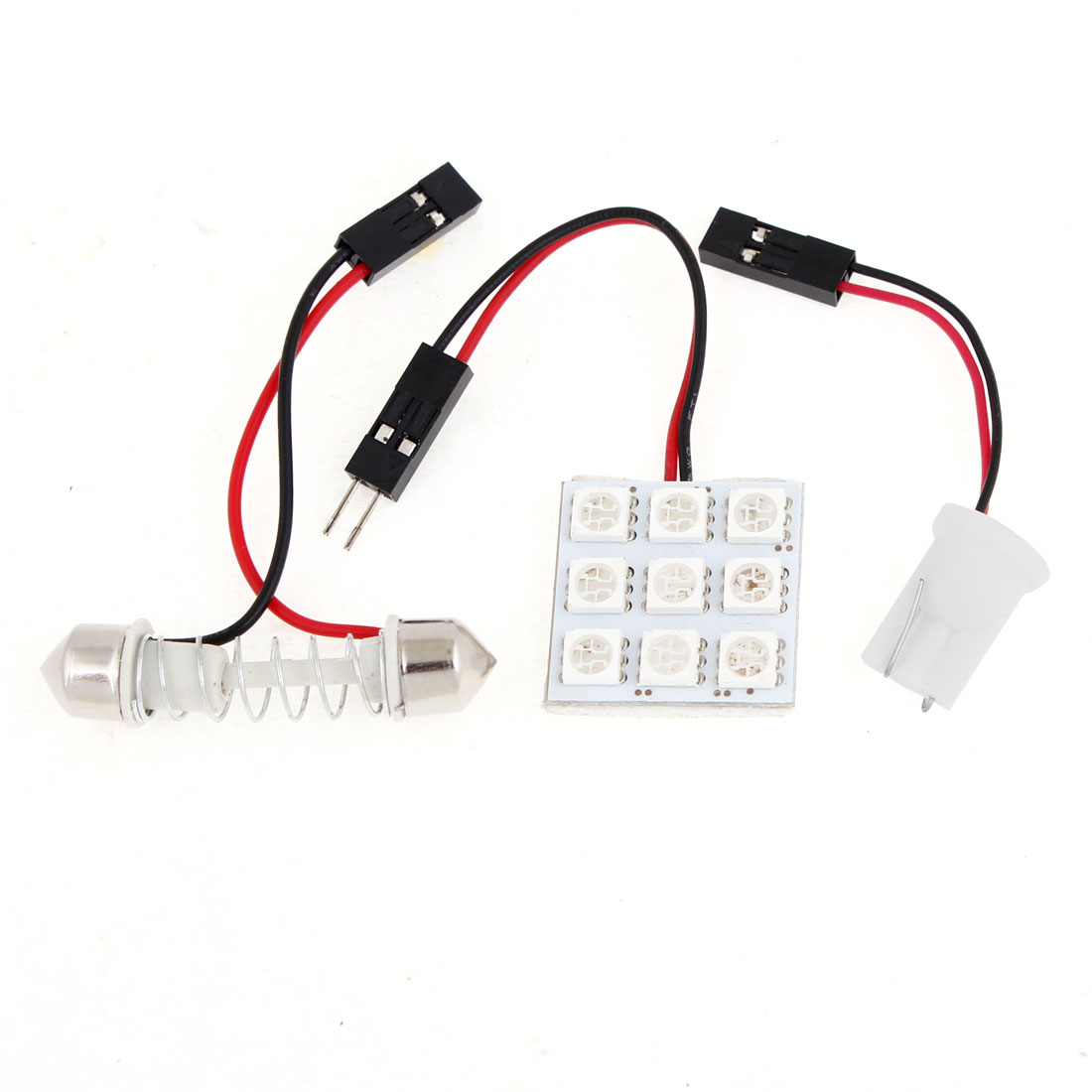 Auto Car 9 Blue 5050 SMD LED Map Reading Light w T10 Festoon Adapter