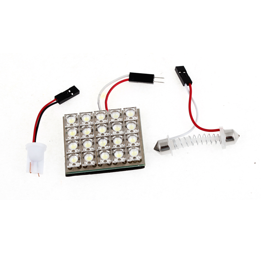Auto Car 20 White SMD LED Map Reading Light w T10 Festoon Adapter