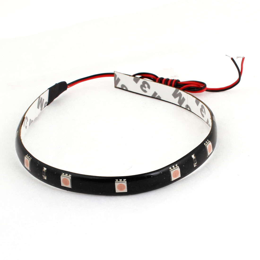 Adhesive Tape Pink 12 5050 SMD Auto Car Flexible Decor LED Strip 30cm