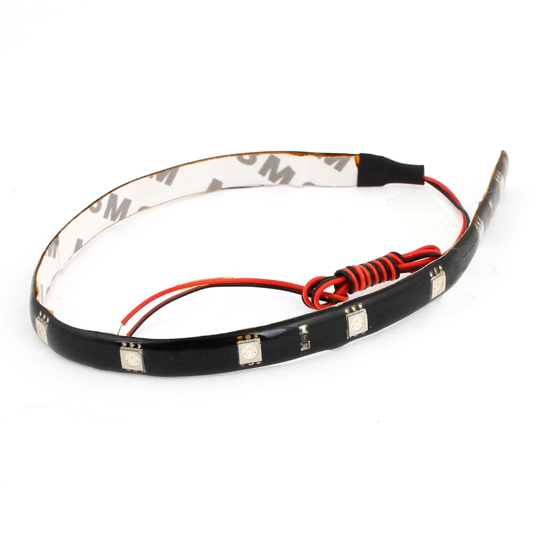 Adhesive Tape Red 12 5050 SMD Auto Car Flexible Decor LED Strip 30cm