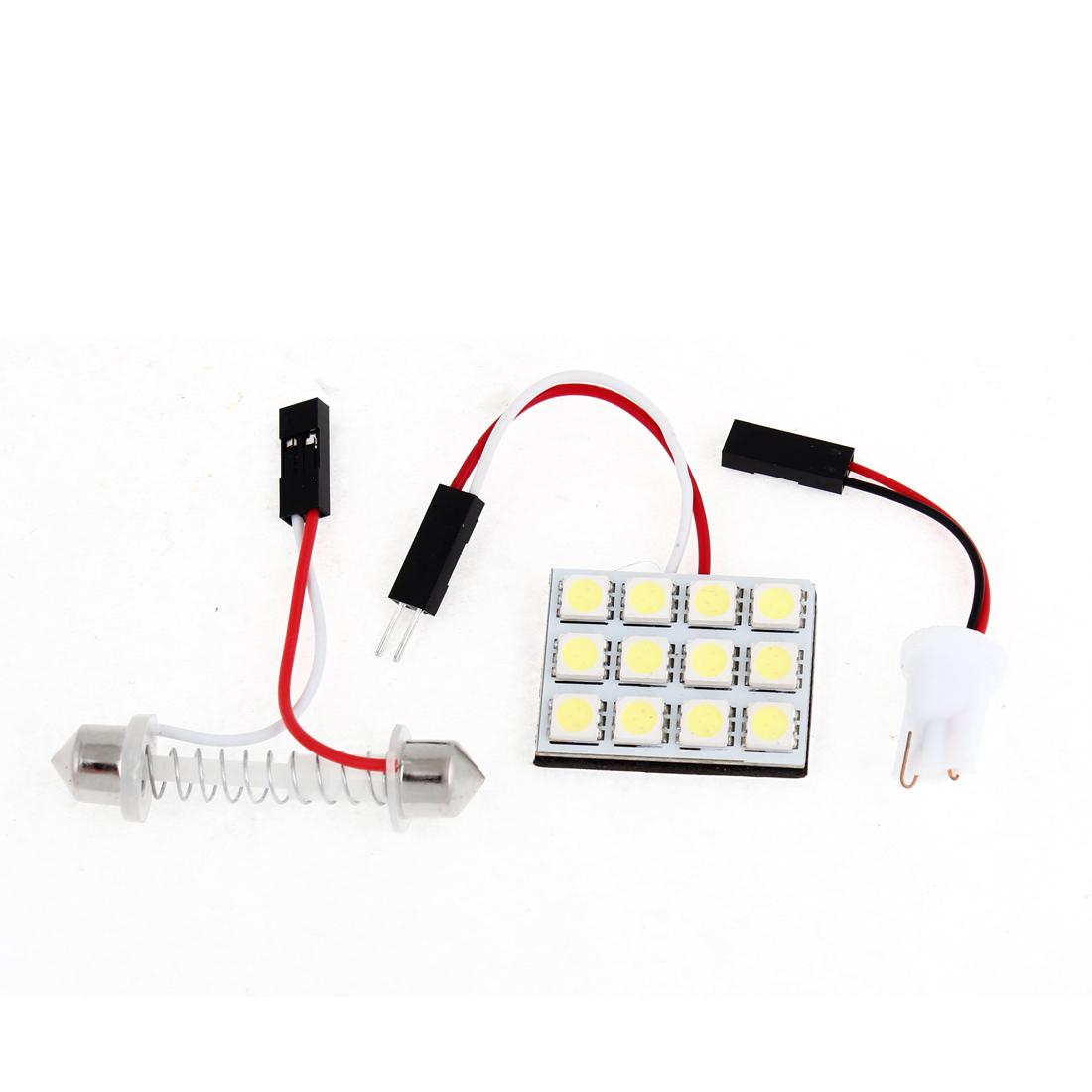 Auto Car 12 White 5050 SMD LED Map Reading Light w T10 Festoon Adapter