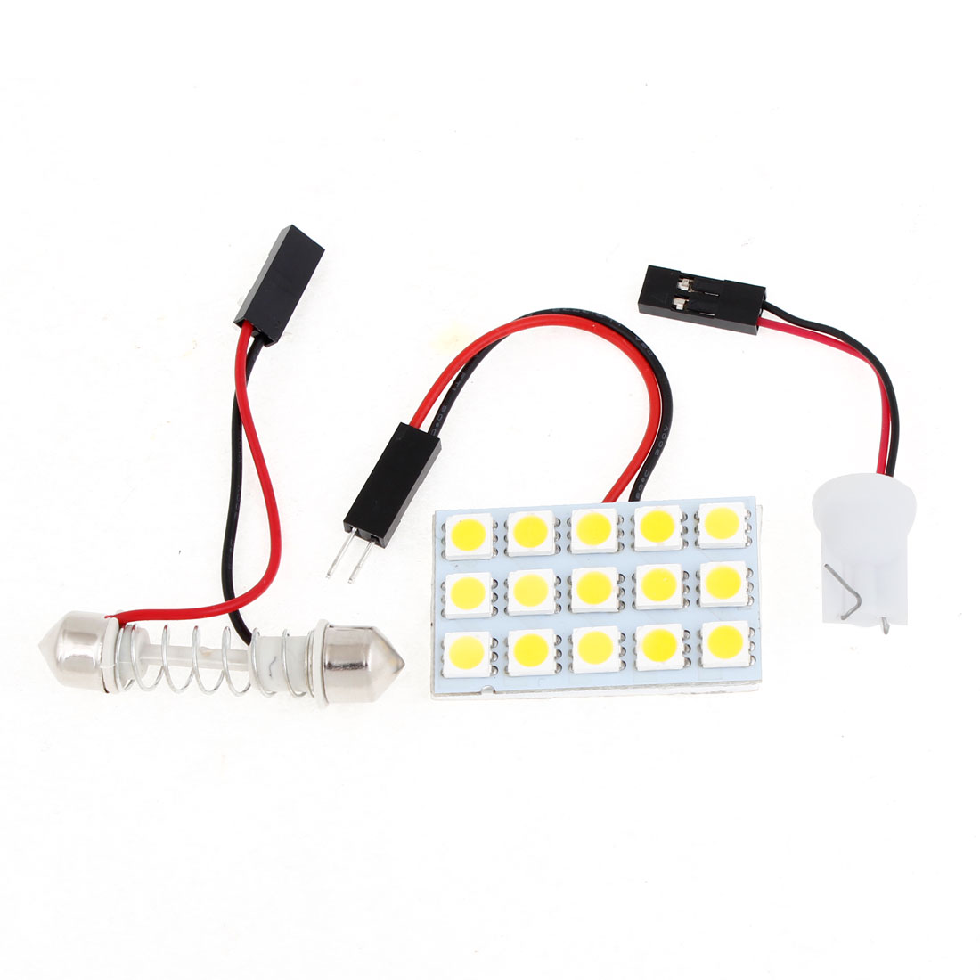 Auto Car 15 Warm White 5050 SMD LED Map Reading Light w T10 Festoon Adapter
