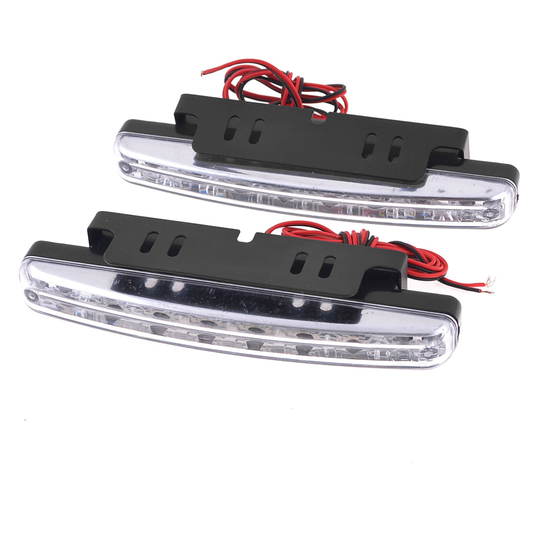2 Pieces White 8 LED DRL Daytime Running Light Lamp DC 12V for Car