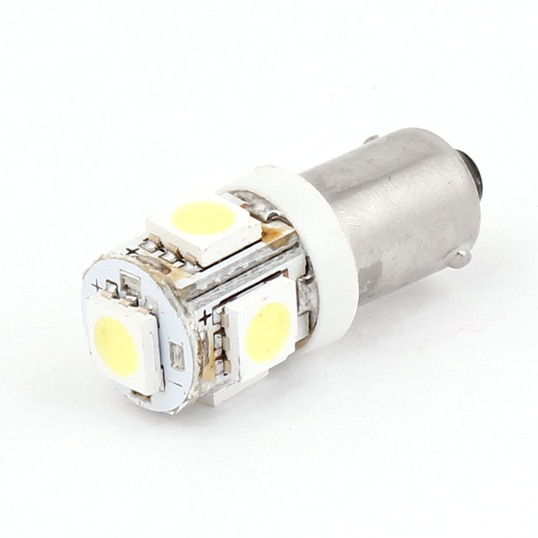 Auto Car BA9S H5W White 5 LED 5050 SMD Turn Tail Back Up Light Bulb
