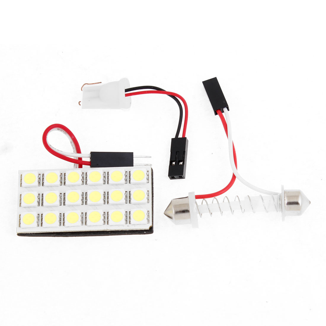 Auto Car 18 White 5050 SMD LEDs Map Reading Light w T10 Festoon Adapter