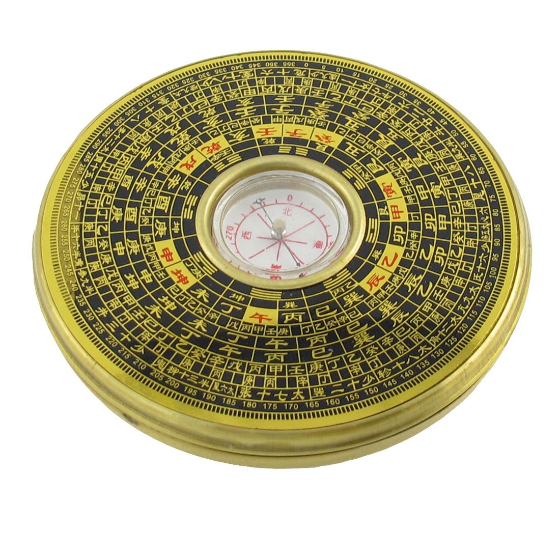 "Portable 3.8"" Dia Round Shaped Brass""Feng Shui"" Dragon Compass"