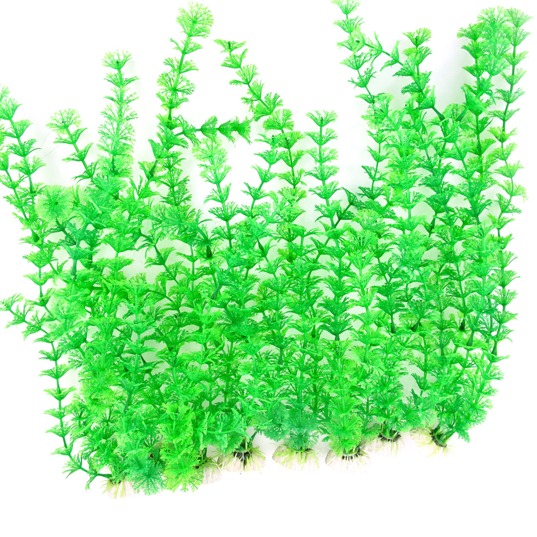 "10 Pcs 12.3"" High Green Emulational Aquatic Fish Tank Plants Decoration"
