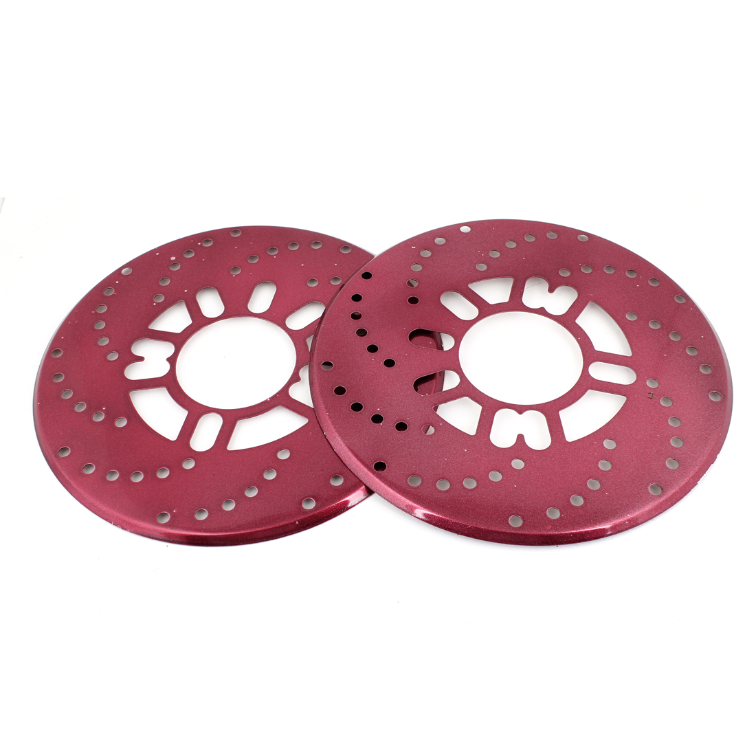 "Auto Car Wheel Decorative Burgundy Aluminium Disc Brake Racing Cover 10.2"" x 2"