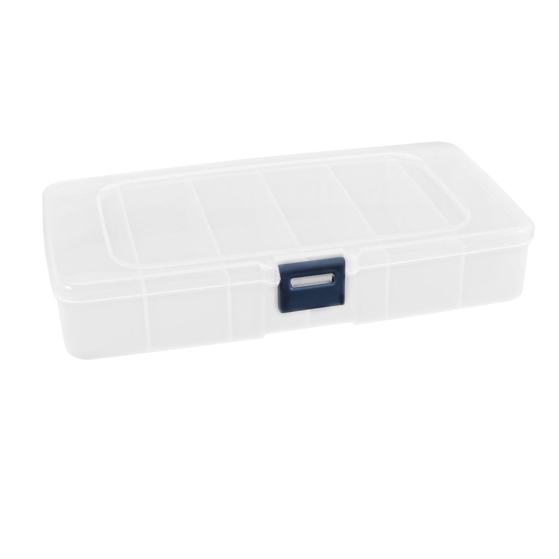 Clear Plastic 6 Compartments Electronic Components Storage Box Case