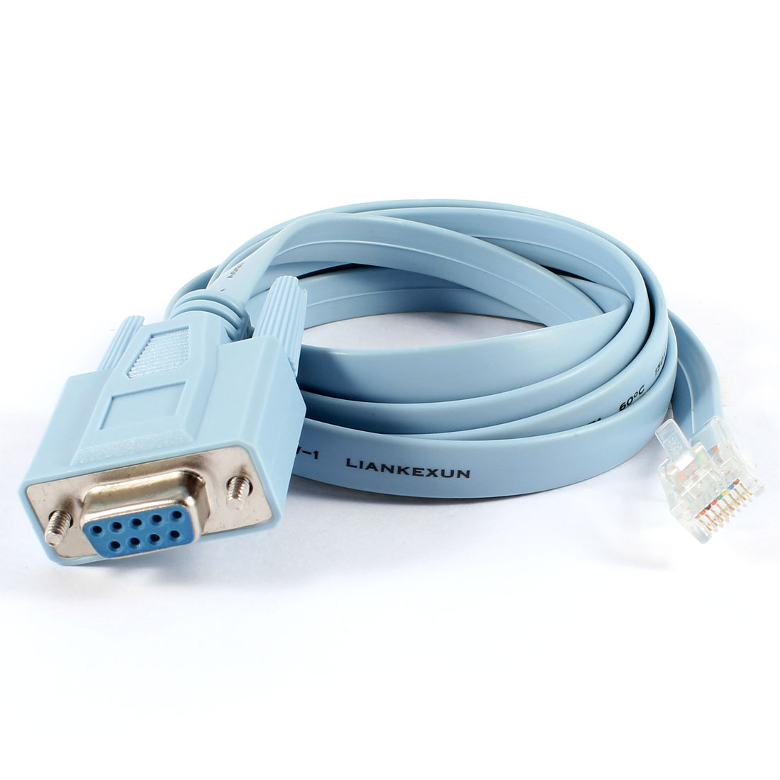 5ft Long 9mm Width VGA Female to RJ45 Male Adapter Cable Blue