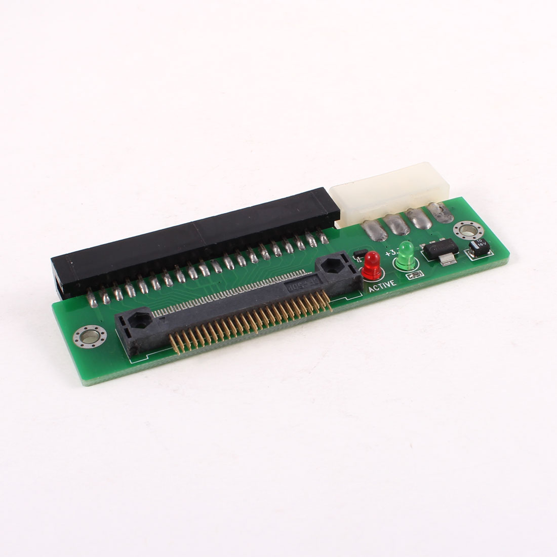 "Red Green LED 1.8"" IDE Male to 3.5"" IDE Male Hard Drive Adapter Converter"