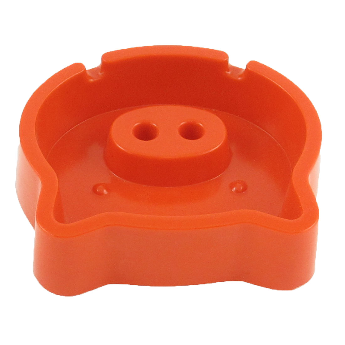 Cartoon Pig Design Orange Plastic Ashtray for Home Office Cafe