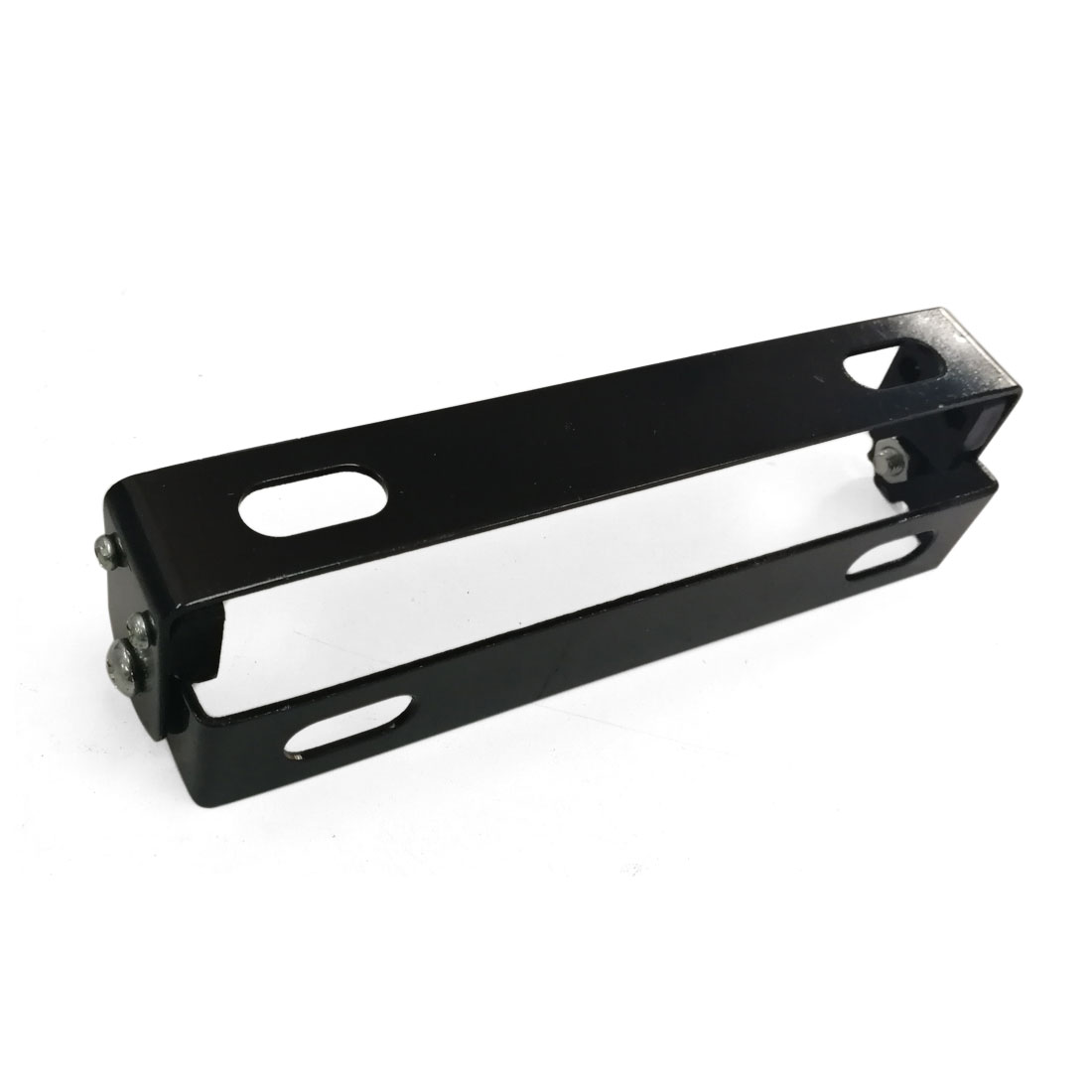 Motorcycle Automobile Adjustable Angle Black Metal License Plate Holder Bracket