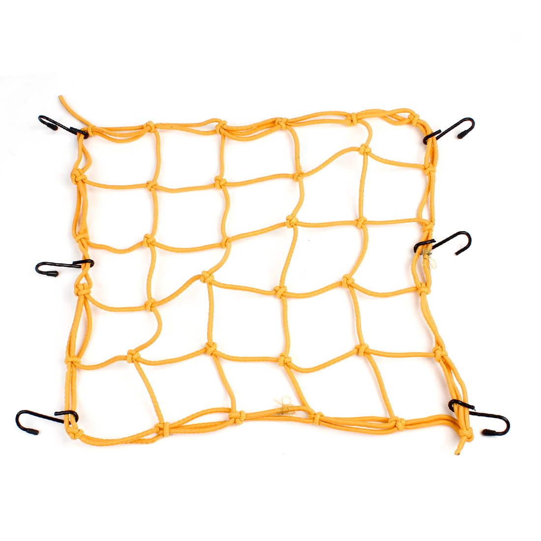 Motorcycle Auto Car Yellow Bungee 6 Hook Designed Luggage Package Flexible Net