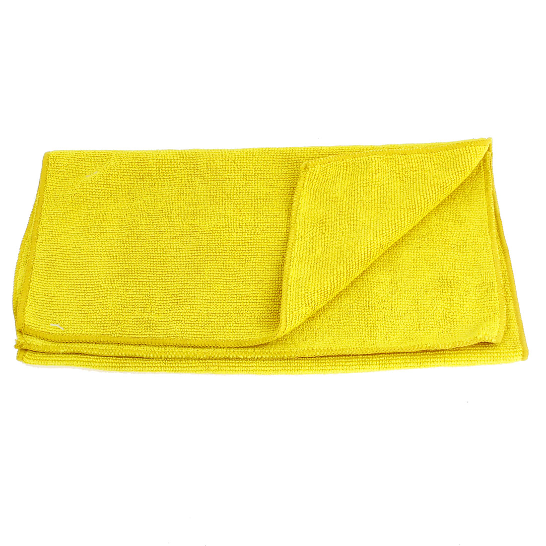 Yellow Rectangle Soft Microfiber Towel Car Auto Cleaning Cloth 64cm x 32cm