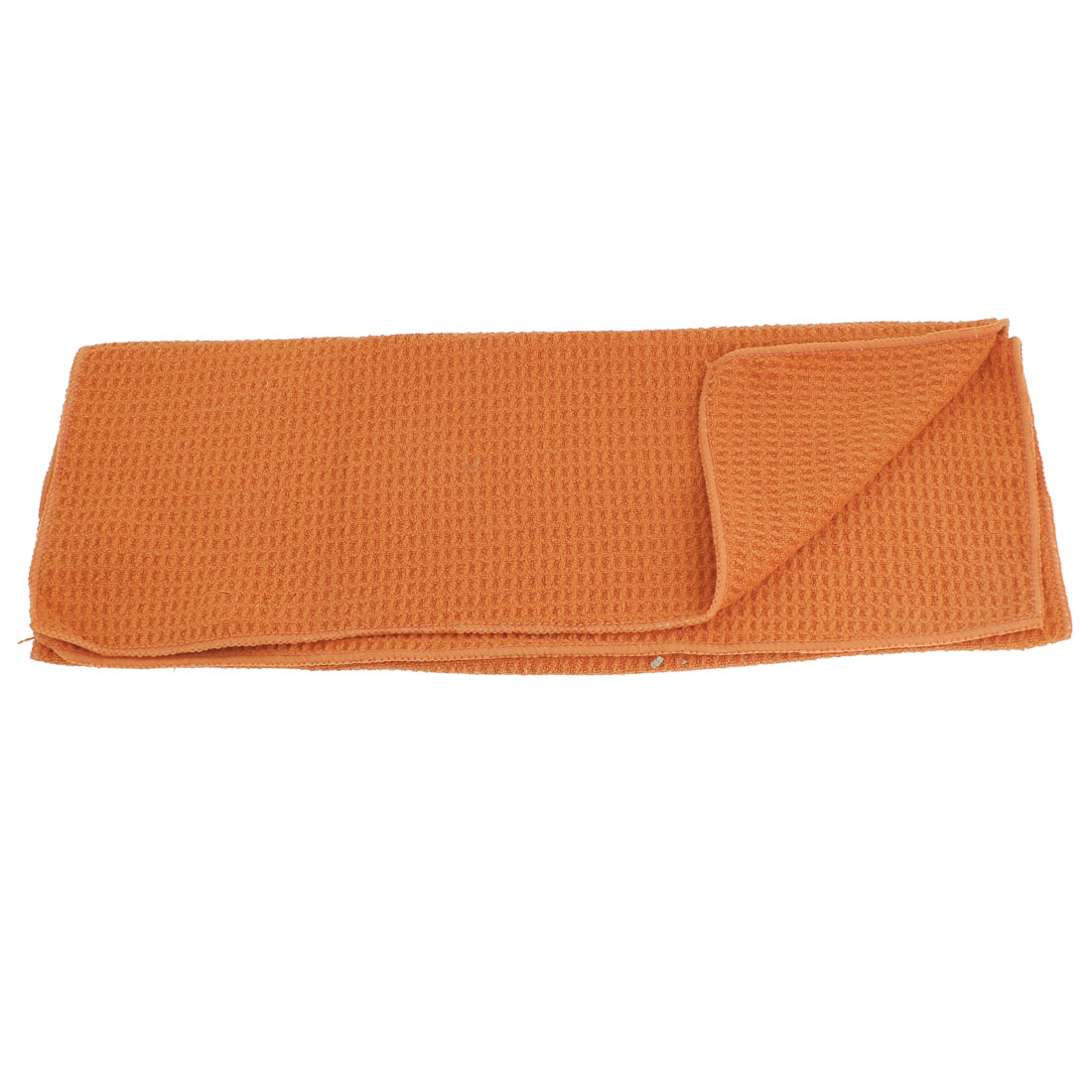 "Rectangle Orange Red 25.2"" x 17"" Microfiber Towel Cleaning Cloth for Car"
