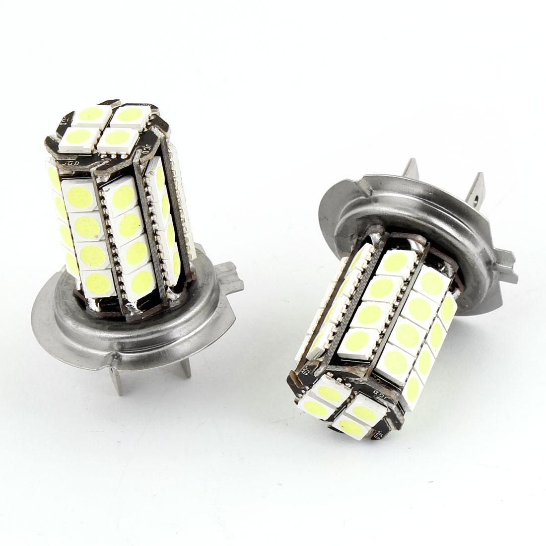 2PCS H7 36 LED 5050 SMD White Fog Driving Headlight Bulb Light DC 12V for Car