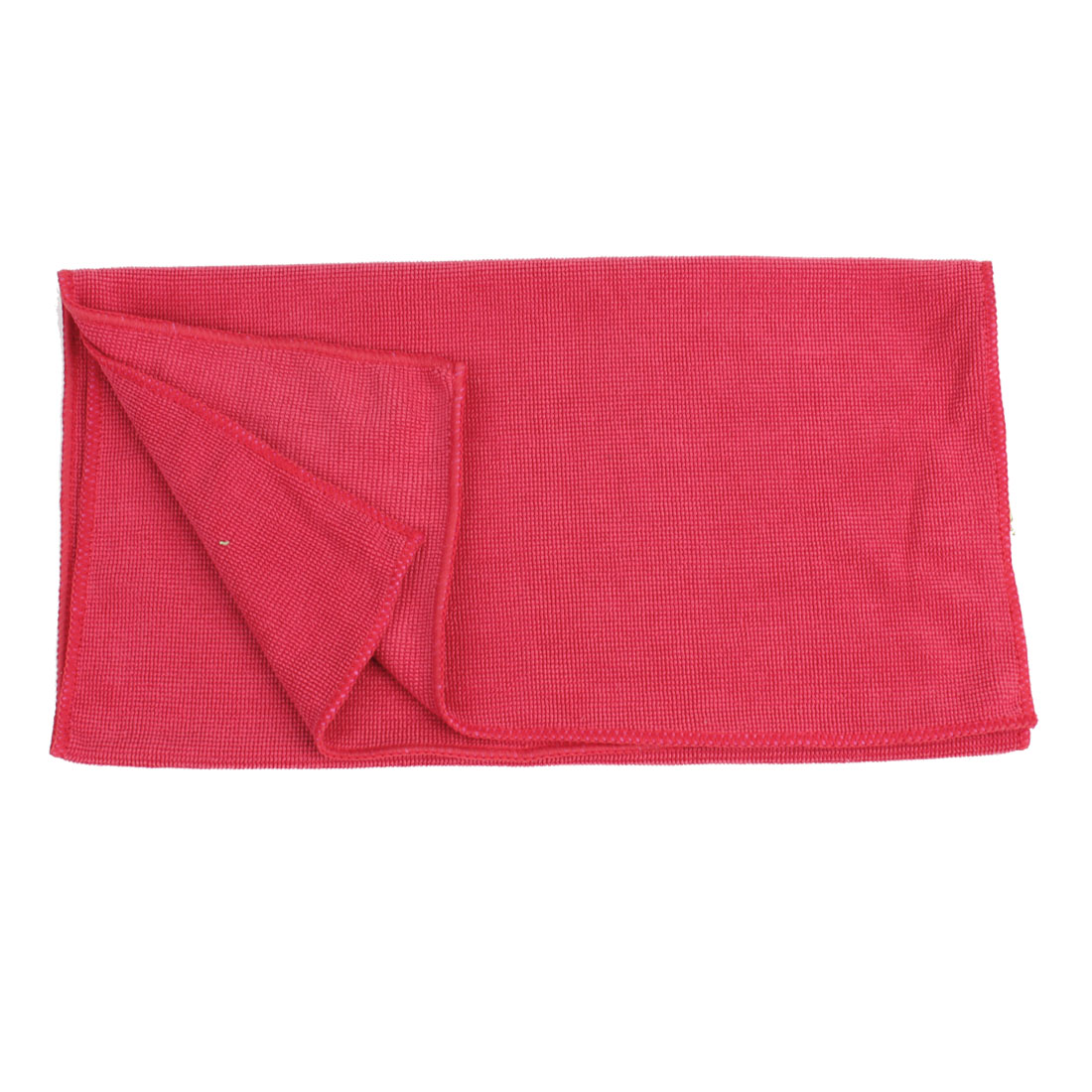 Red Rectangle Soft Microfiber Cleaning Towel Tool 73cm x 34cm for Car Hubcap