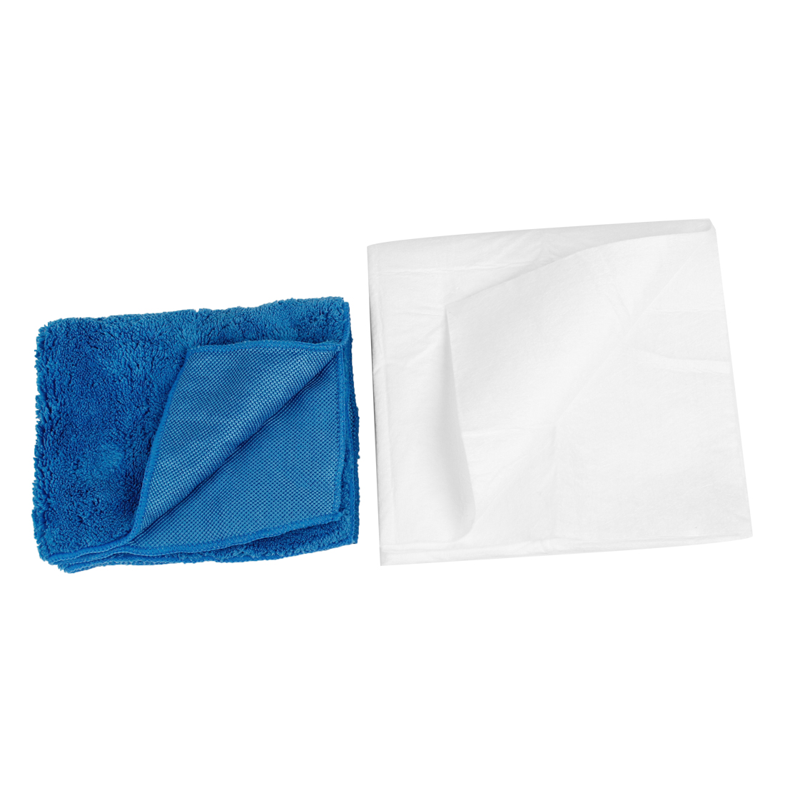 Car Automobile Interior Blue White Rectangle Washing Cleaning Towel Cloth 2 in 1