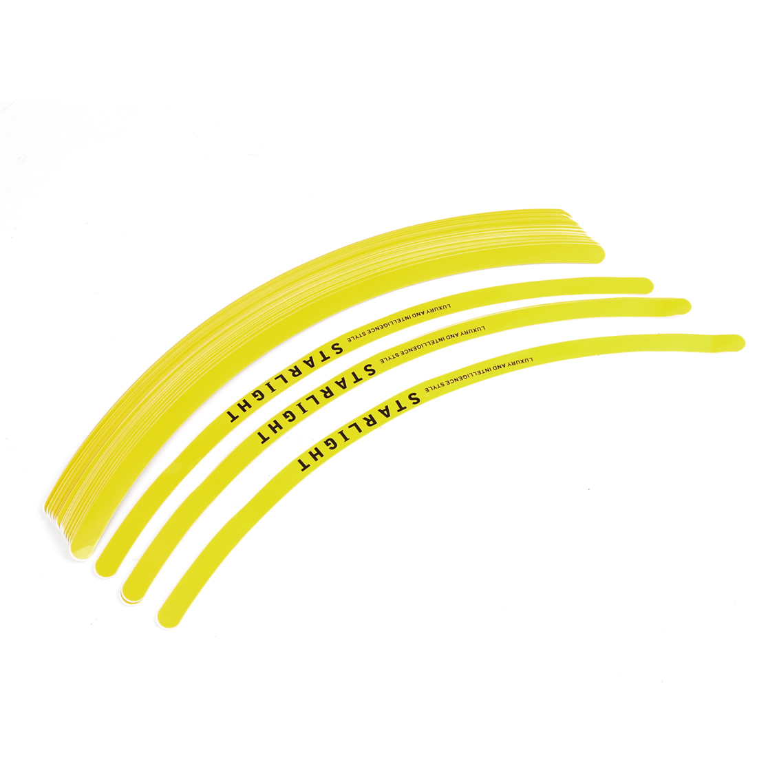 28 Pieces Yellow Vinyl Rim Stripes Tape Decal Stickers for Motorcycle Car