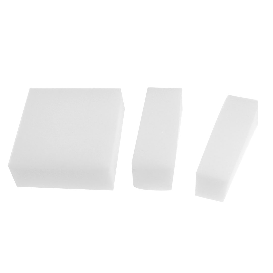 14cm x 9cm x 3cm Rectangular White Cleaning Washing Sponge for Automobile Car
