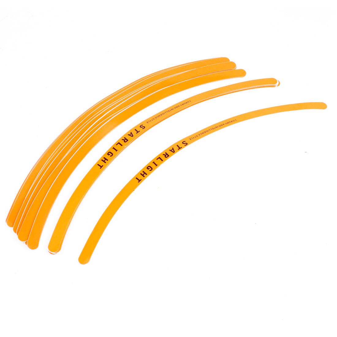 "28PCS Orange 0.4"" Width Adhesive Stripes Wheel Rim Tape for Auto Car Motorcycle"