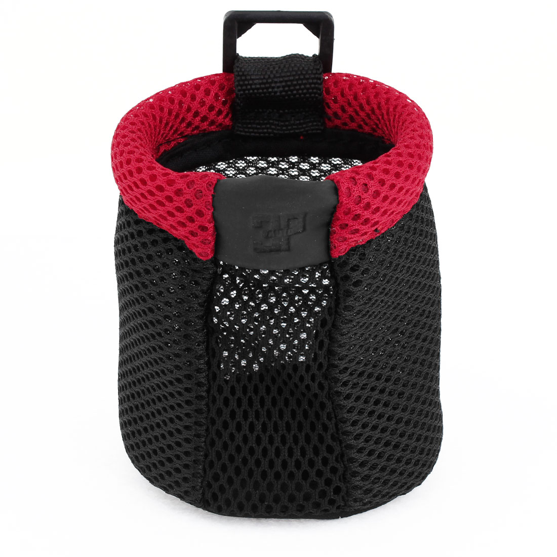 Car Autmobile Air Vent Black Red Nylon Cell Phone Pouch Holder Bag