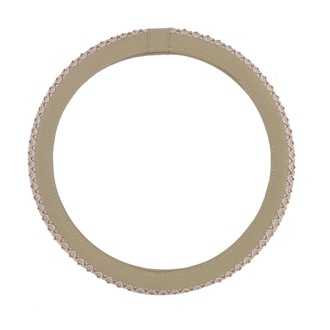 "Beige Nylon Textured Steering Wheel Guard Cover 1.5"" Dia for Auto Car Truck"