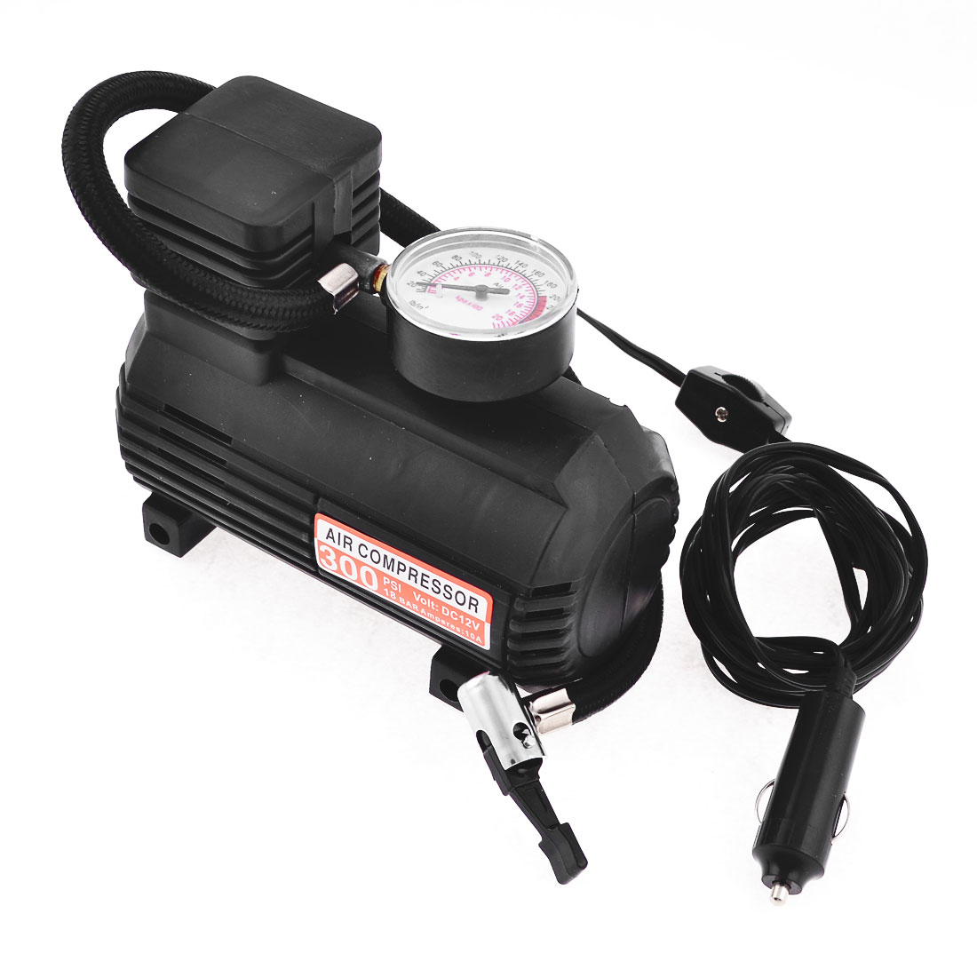 Portable Pump Car Auto 300PSI 12V Electric Air Compressor w Tire Inflator