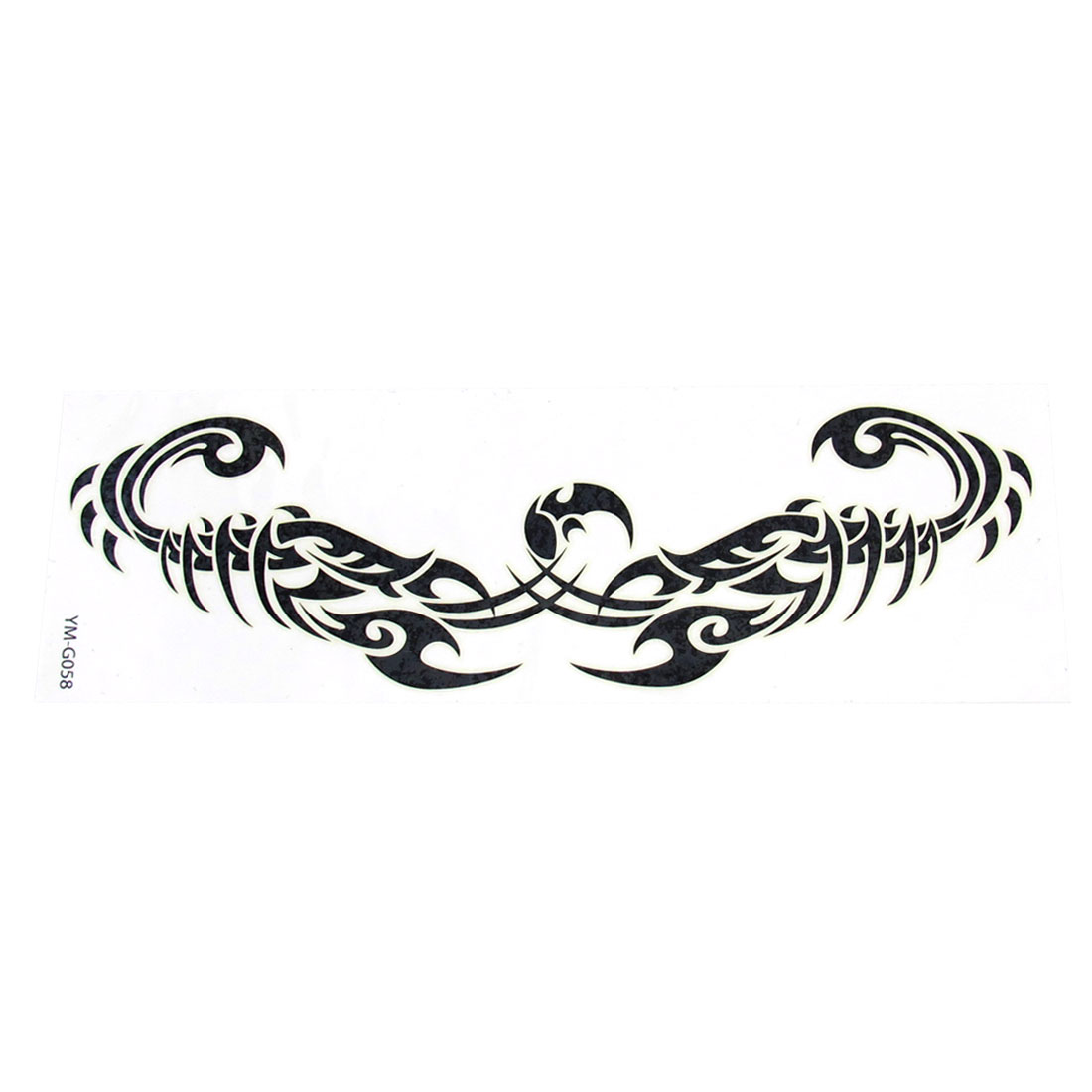 Self Adhesive Scorpion Pattern Temporary Transfer Tattoos Sticker Beauty Tool