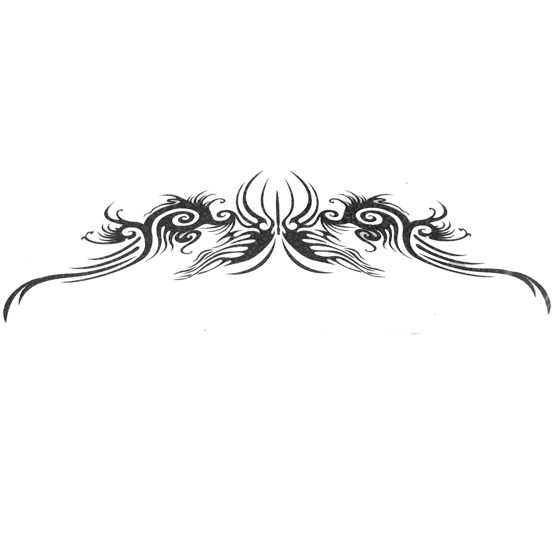 Metal Ceramic Butterfly Print Temporary Transfer Tattoos Sticker Beauty Tool