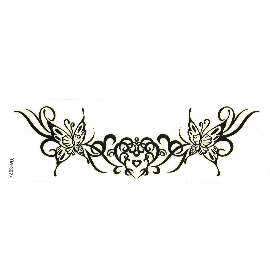 Self Adhesive Decorative Black Butterfly Printed Transfer Tattoos Sticker