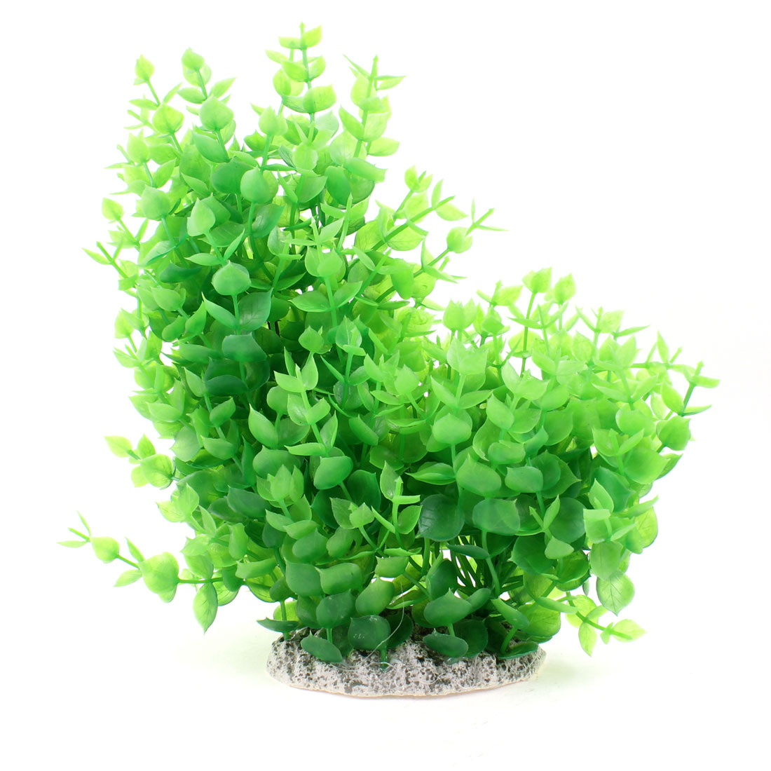 "9.4"" Height Aquarium Decor Green Plastic Aquascaping Plant Tree"