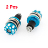 2 Pieces 5.5mm Diameter Thread Blue Motorcycle Handgrip End Cap Cover Protector