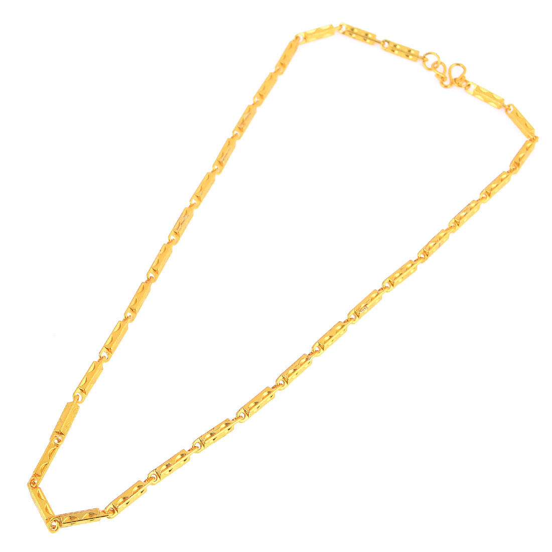 Women Man Glitter Bling Necklace Choker Jewelry Present Gold Tone