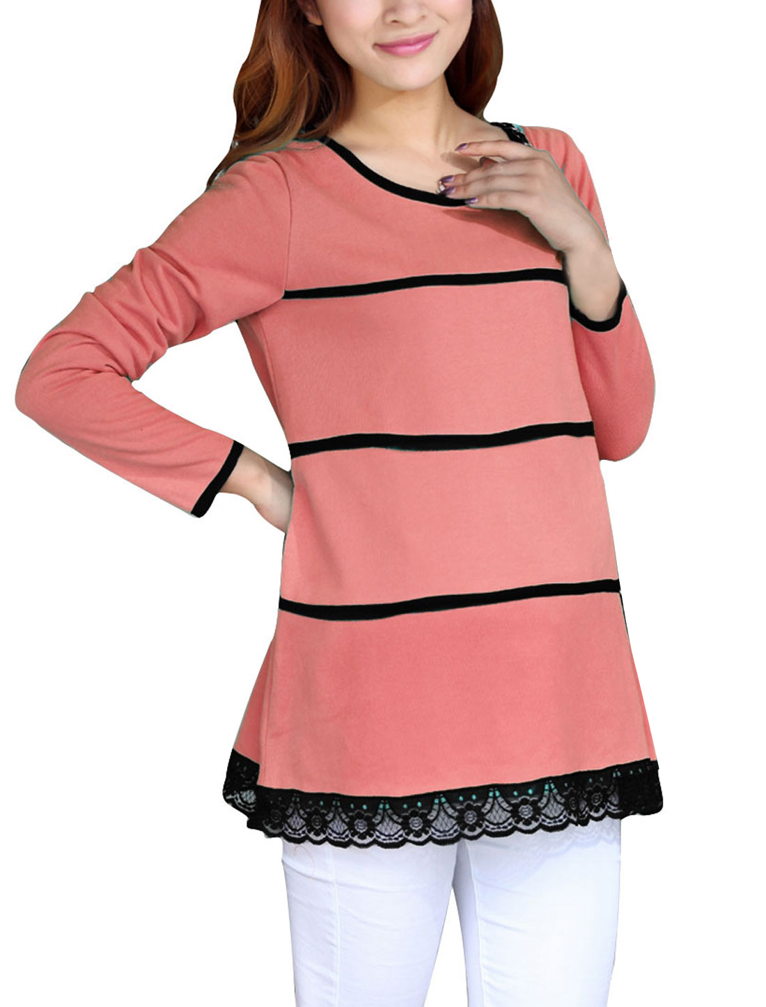 Maternity Pullover Spring Soft Knitwear Watermelon Red S