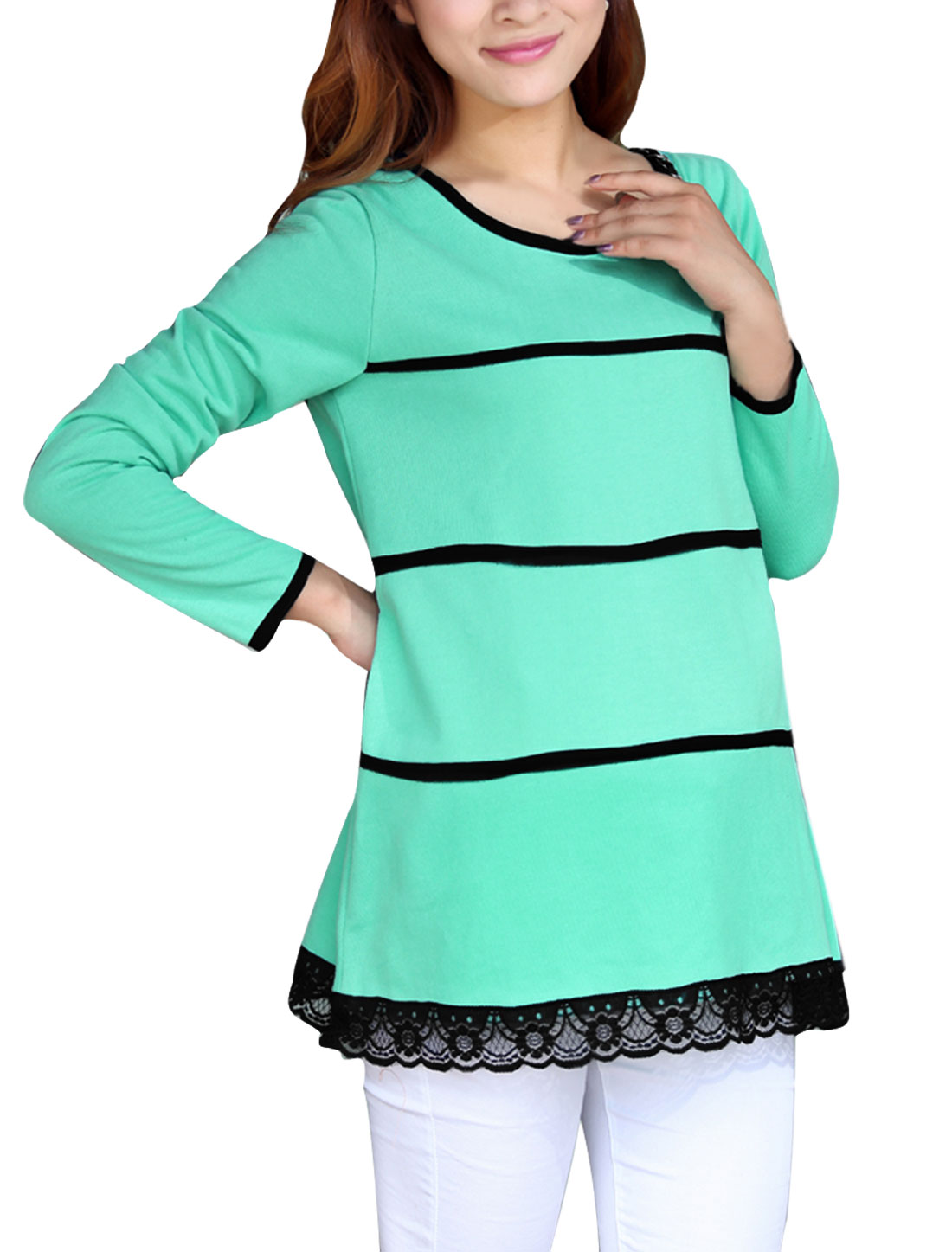 Matherhood Round Neck Self Tie Belt Knitwear Sea Green S