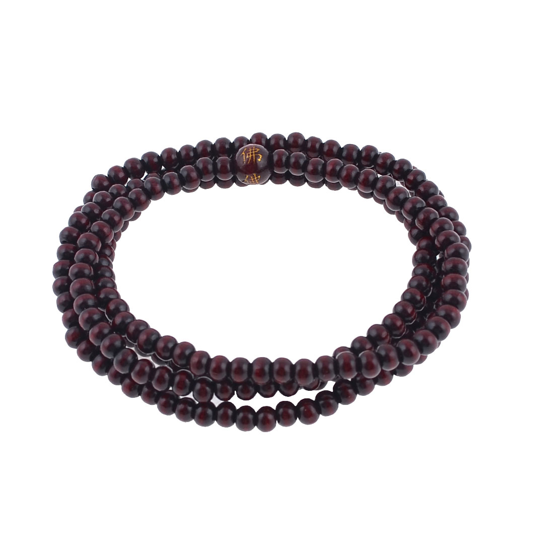 Burgundy 80cm Girth Smell Wood Buddhist Prayer Beads Necklace