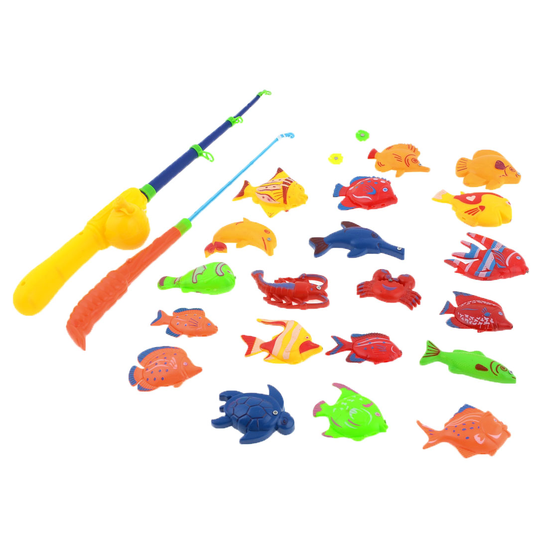 Child Colorful Plastic Magnet Crocodile Octopus Fishing Game Toy Set 22 in 1