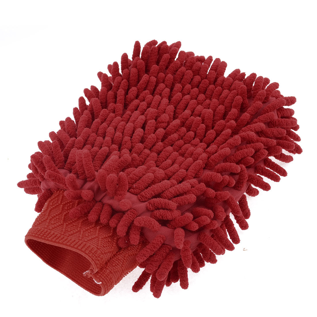 Car Vehicle Cleaning Washing Microfiber Chenille Mitt Gloves Orange Red