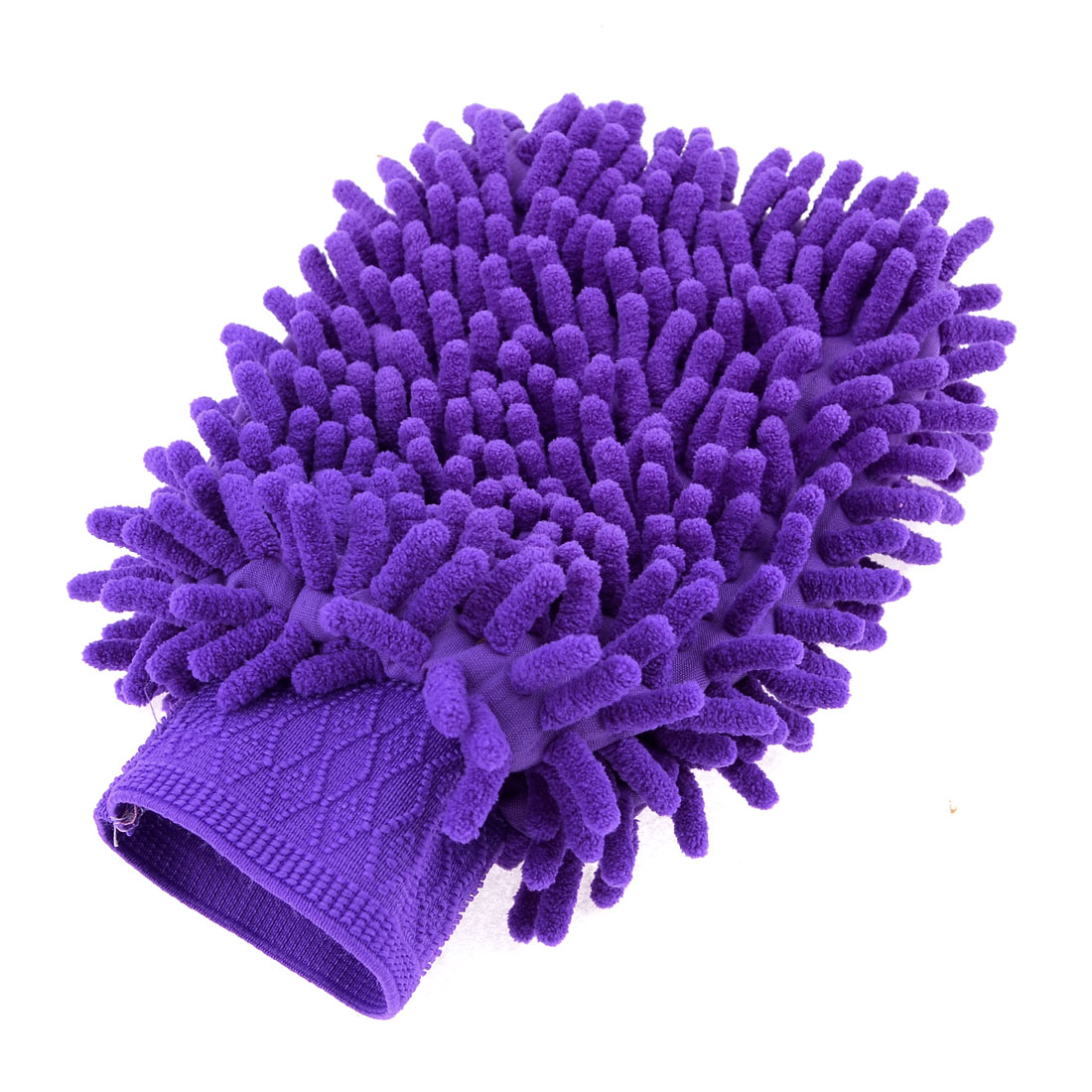 Household Stretch Chenille Furniture Window Scrubing Gloves Mittens Purple