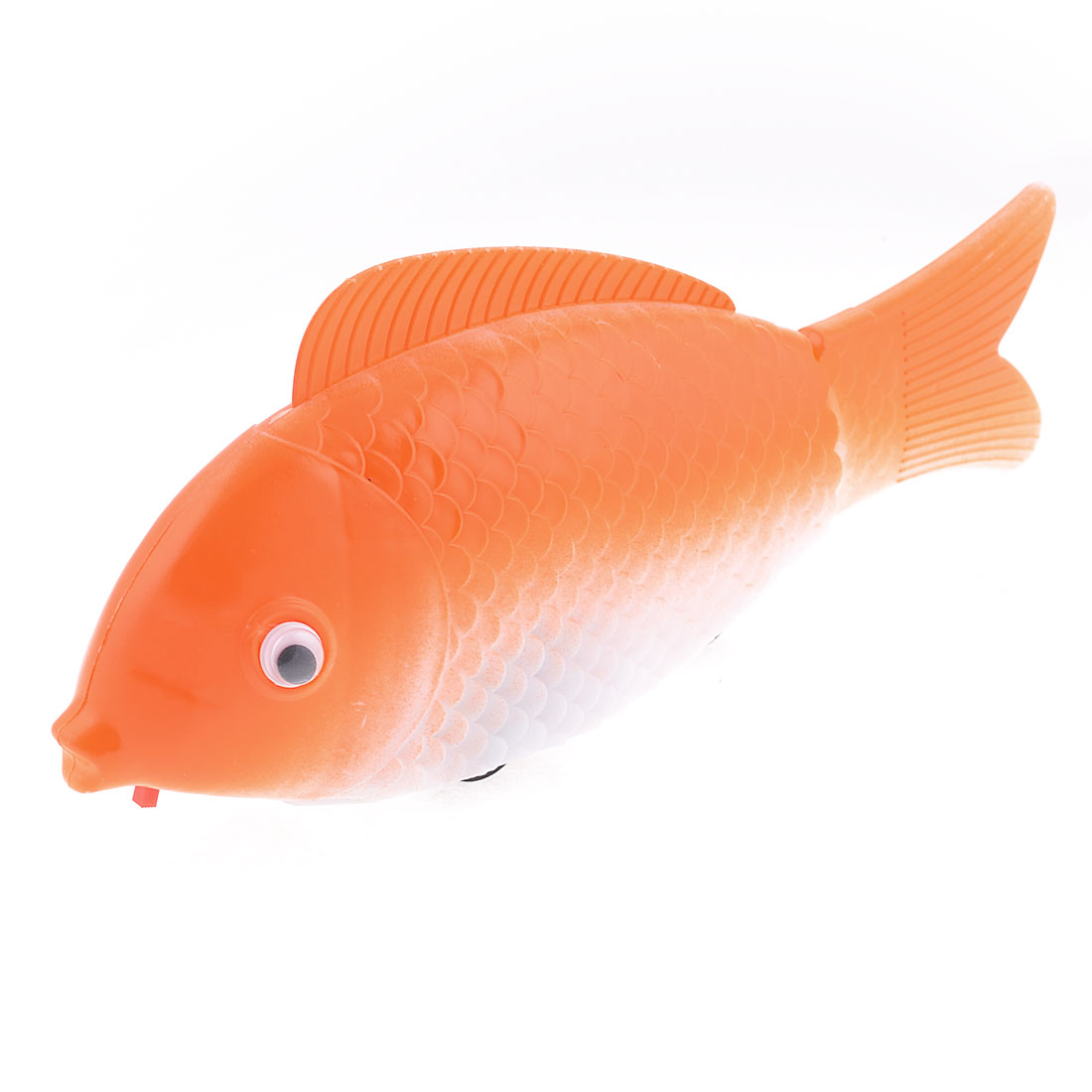 White Orange Fishtail Battery Powered Plastic Walking Music Fish Toy for Kid