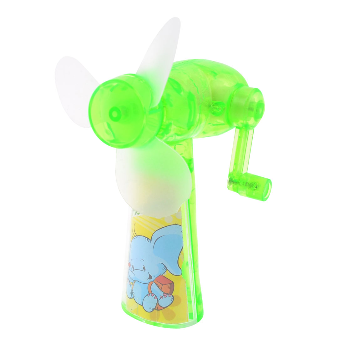 Green Winnower Designed Plastic Portable Camping Hand Crank Cooling MiMi Fan