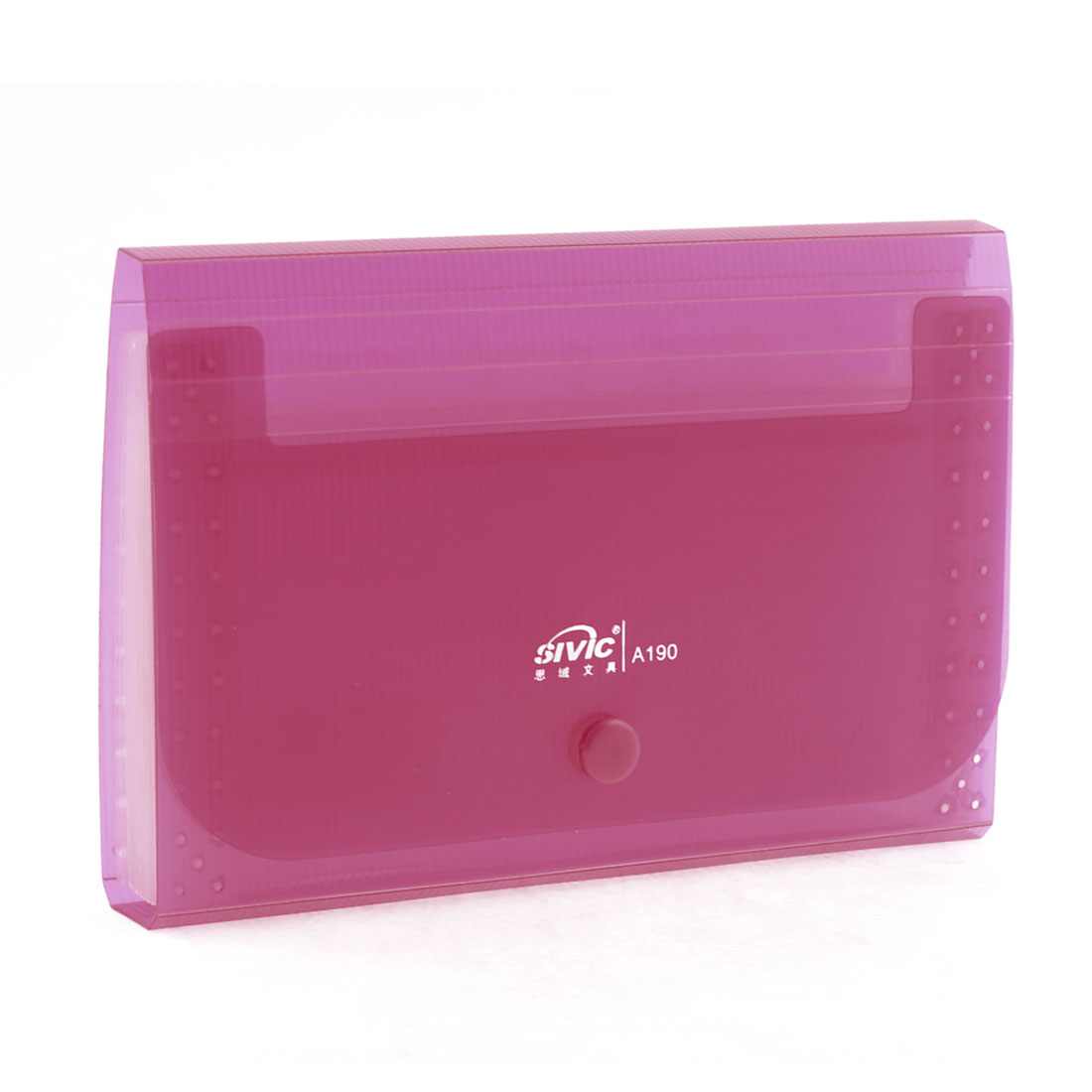 Home Office 13 Slots Fuchsia Receipt File Folder Coupon Cotainer w Tab Label