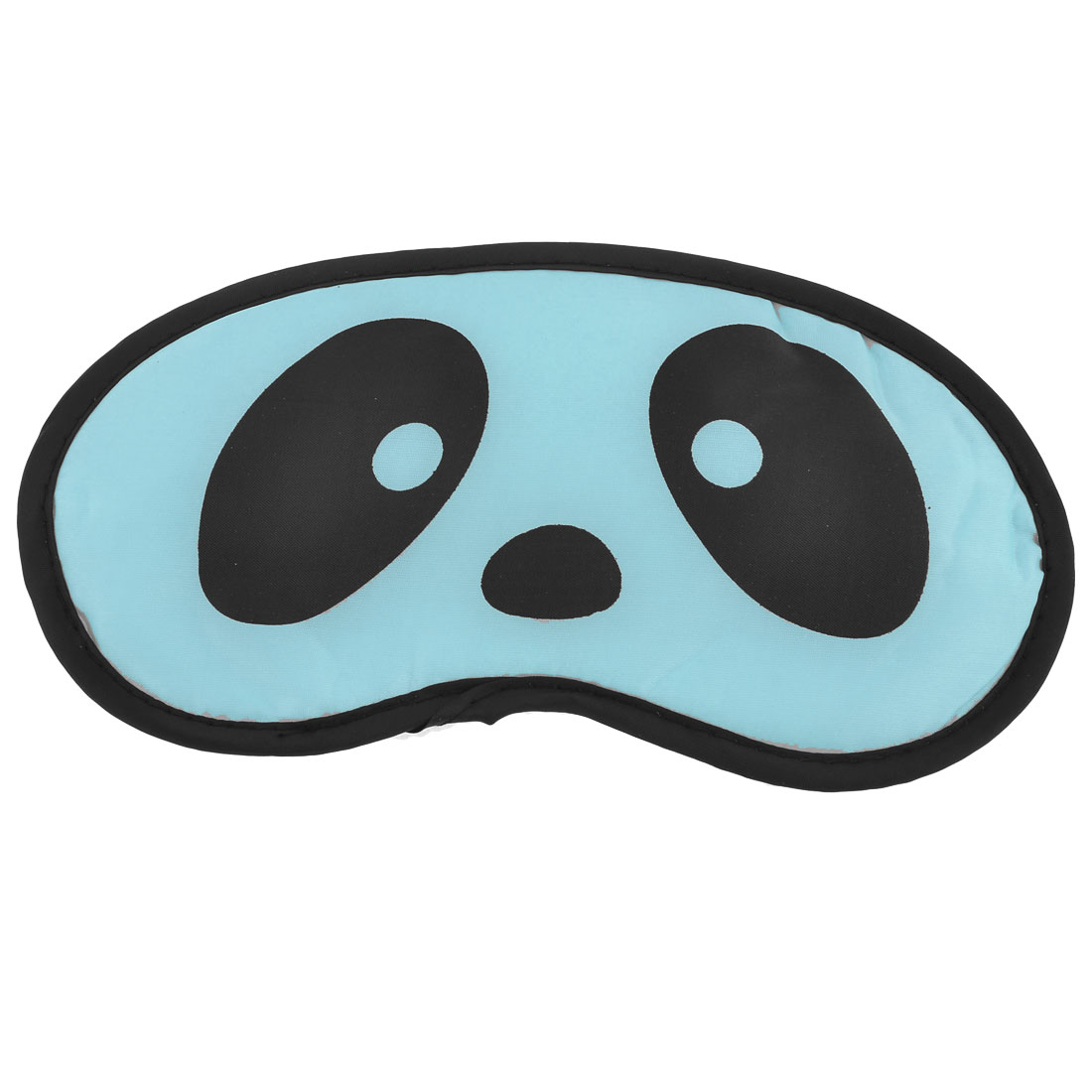 Travel Sleep Blindfold Panda Printed Eyepatch Eye Mask Black Cyan